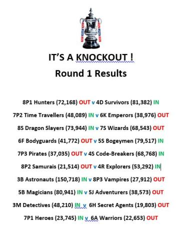 Knockout Round 1