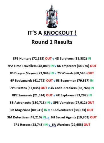 Knockout Round 1